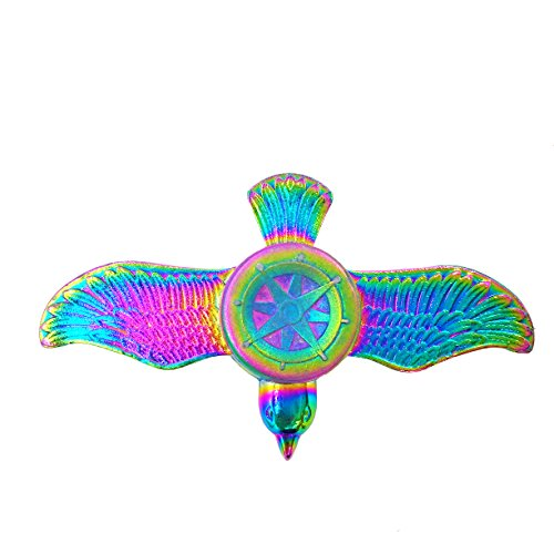 Fidget Spinner Ucll Bauhinia Flower Hand Spinning Toy Edc Focus Stress Reducer Toy With Headset Decor Gift Perfect For Girl  Rainbow Bird