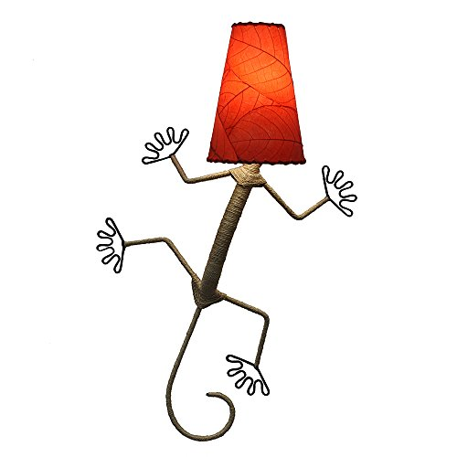Eangee Home Designs Wall Sconce Lamp Light Gecko - Color - Red Color Sconces Art