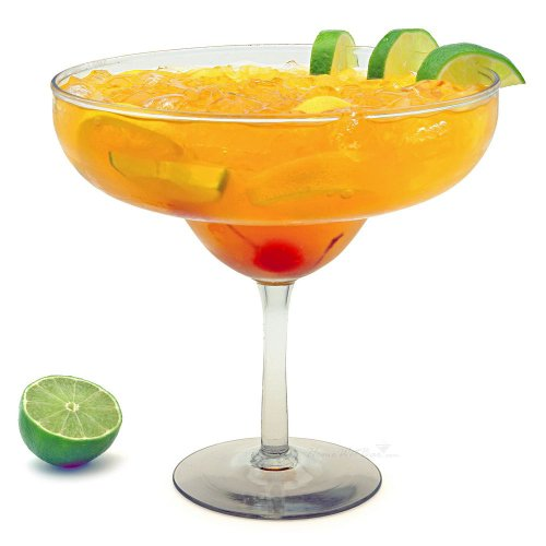 A2ZBAZAAR Super Large Giant Party Margarita Glass - 48oz (1425ml) - Fits about 10 Standard Margaritas
