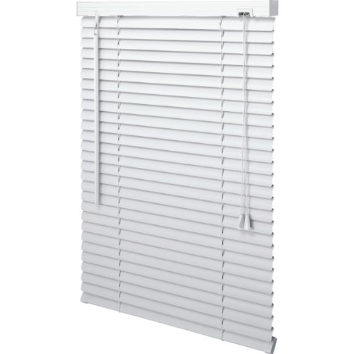 Actual Size: 11.5 x 72 Box May Printed 12 x 72 White 1 Mini Vinyl Horizontal Window Blind (W x L) HDSupply