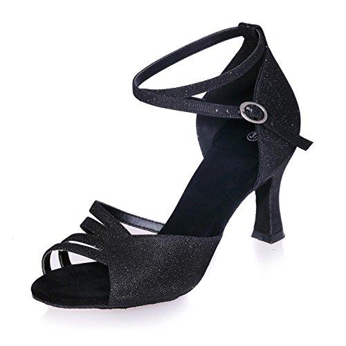 Multi Latino Con De Cuero Black 22 L Para 5cm Baile Personalizable Mujer 8349 yc Zapatos Artificial 7 color 7Hz1qz8np