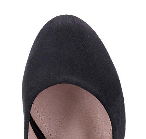 Schuhtempel24 Damen Schuhe Plateau Pumps Trichterabsatz 11 cm High Heels Schwarz