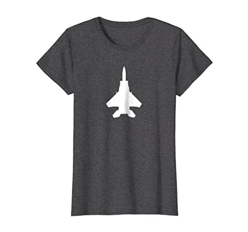 Womens F-15 Eagle fighter jet silhouette pilot or crew t-shirt Medium Dark (100 F15 Eagle)