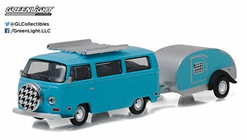New 1:64 HITCH & TOW SERIES 8 - BLUE 1972 VOLKSWAGEN TYPE 2