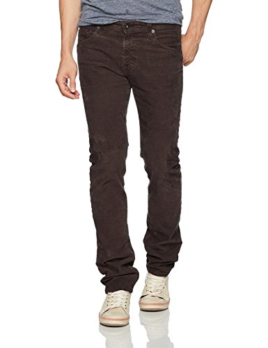 AG Adriano Goldschmied Men's Matchbox Slim Straight Leg Corduroy, Sulfur Dark Oakwood, 31 by AG Adriano Goldschmied