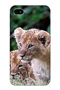 Exultantor Iphone 4/4s Hybrid Tpu Case Cover Silicon Bumper Animal Lion Kimberly Kurzendoerfer