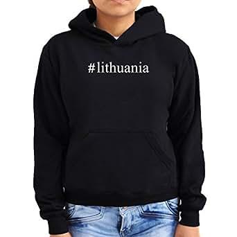 #Lithuania Hashtag Women Hoodie