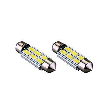S42C6WK - Blanca de Canbus del adorno Festoon Lámparas C5W 42mm 6 SMD LED Numero de