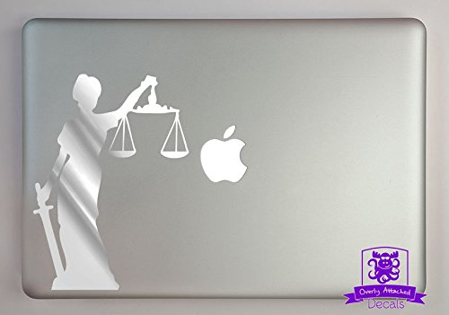 Overly Attached Decals Lady Justice Specialty Vinyl Decal Sized To Fit A 13