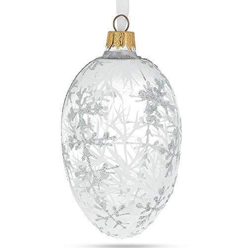 BestPysanky 1913 Winter Royal Egg Glass Ornament