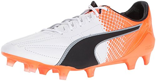 Puma Mens Evospeed SL II Lth Tricks FG Soccer Shoe, blanco negro, 42 D(M) EU/8 D(M) UK