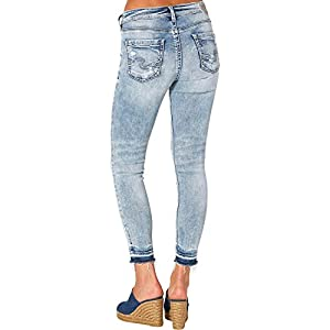 Silver Jeans Co. Women's Plus Size Avery Curvy Fit High Rise Ankle Skinny Jeans