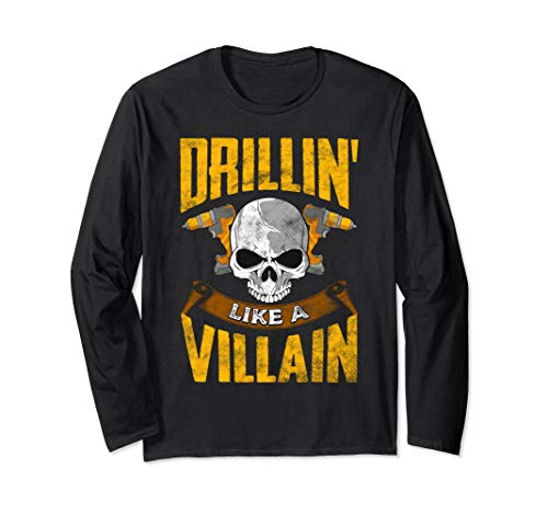 Funny Cordless Drill Driver Carpenter Gift Idea Long Sleeve T-Shirt