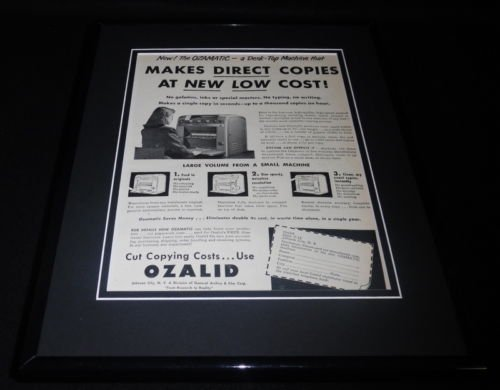 Original 1951 Framed Advertisement - 5