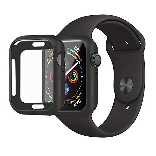 MENEEA for Apple Watch Series 4/Series 5 Case Protector,Ultra-Thin Anti-Scratch Flexible Soft Protective Bumper Cover for New Apple Watch Series 4/Series 5 44mm,Replacement for iWatch 4 5 Case Black