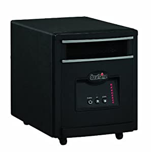 Duraflame 1500 Watt Quartz Heater, Black, 8HM1500