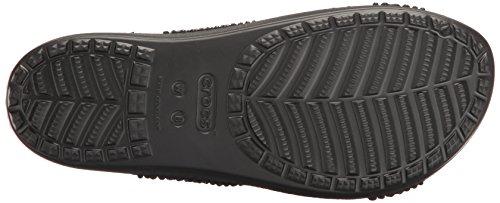 Sloane Negro Embellished Sandalias Mujer Black Black Flip para Xstrap Flop Crocs Sxwpqg7dx