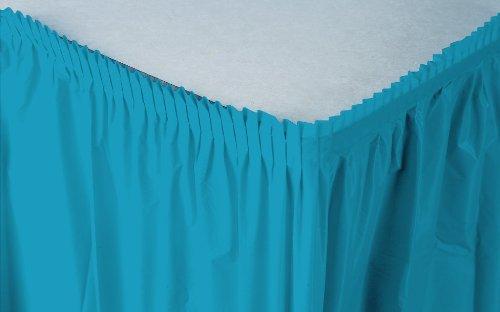 Creative Converting Plastic Table Skirt, 14-Feet, Turquoise ()