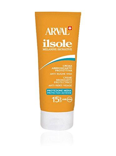 Arval IlSole Crema Abbronzante Protettiva Anti Rughe Viso SPF 15 50 ml Arval S.r.l 8025935183125 88268