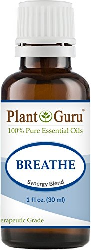 Breathe Respiratory Synergy Blend Essential Oil 1 oz.100% Pure Therapeutic Grade Sinus Relief Blend, Breathing Issues, Allergy Relief, Congestion Relief, Cough, Cold and Flu, Aromatherapy Diffuser.
