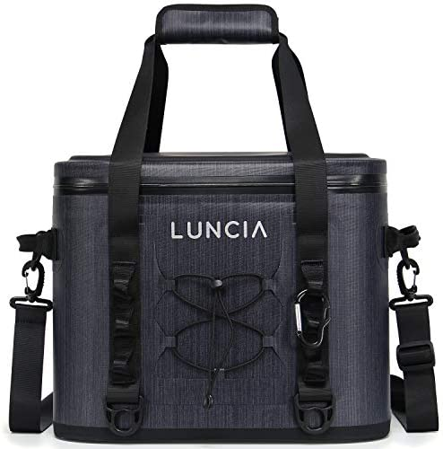 LUNCIA Soft Cooler 30 Cans Leak-Proof Soft Pack Cooler Bag Waterproof Insulated Soft Sided Cooler for Picnic Hiking Camping Beach
