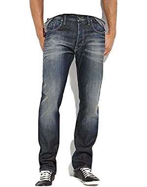 G Star Heller Tapered Vintage Aged Jeans in Fall Denim, Size W31/L34, $170