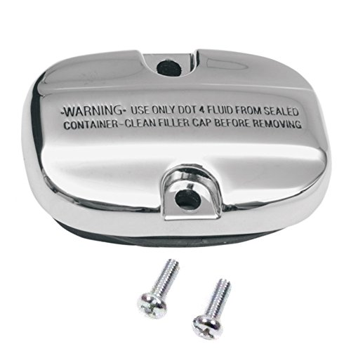Hill Country Customs Chrome Rear Brake Master Cylinder Cover for 2008 and Newer Harley-Davidson Touring models -