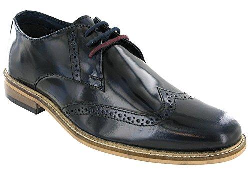 Chaussures pour à Marine Lambretta homme Bleu de lacets ville dFxPn