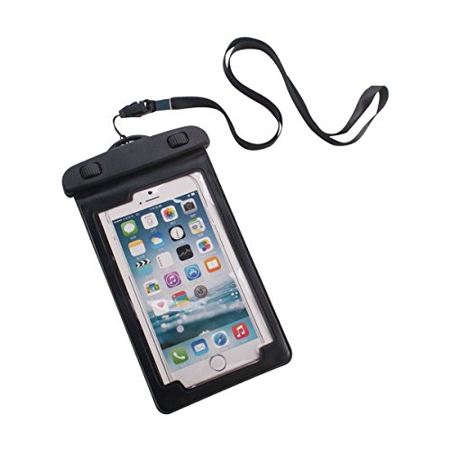 """Price comparison product image ADVANTUS Waterproof Pouch for Phones, Includes Armband/Lanyard, 3.25"""" x 5.75"""", Black, 5/Pack (91137)"""