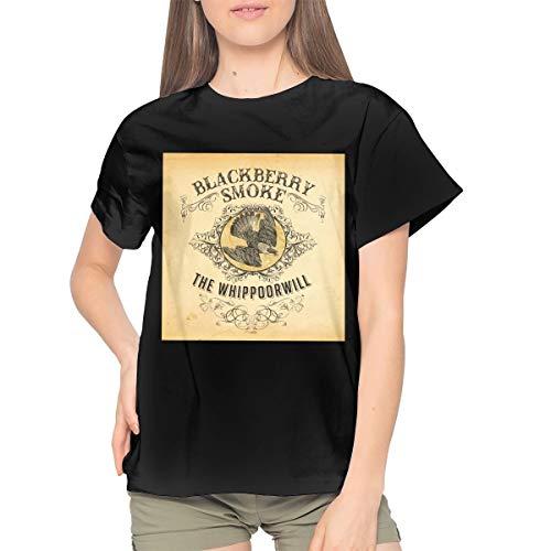 BlackBerry Smoke The Whippoorwill Womans Stylish Sexy Youth Girls T Shirt L ()