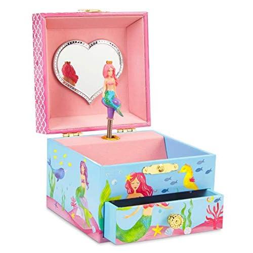 Jewelkeeper Girl's Musical Jewelry Box (Mermaid, Over The Waves Tune)