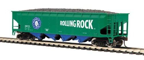 MTH HO Scale 75-Ton Quad Hopper, Rolling Rock