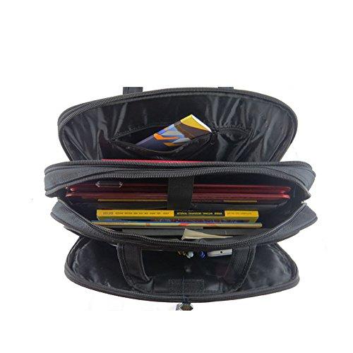 Wewod 16 pulgadas Moda Multifunción Negocios Impermeable Maletín Bolso de Bandolera Tote para Ordenador Portátil y Tabletas 41 x 32 x 11 cm (L*H*W) (Negro) Negro