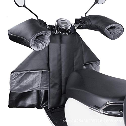 straw Motorcycle Winter Windshield Velvet Windproof & Waterproof Quilt, Leg Lap Apron Cover for Scooter Motorcycle with Handle Mitts,Leg Knee Warm Protector Shield
