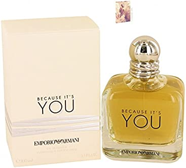 Empórió Armáni Because Its You Perfume Eau De Parfum Spray For Women 3.4 oz Eau De