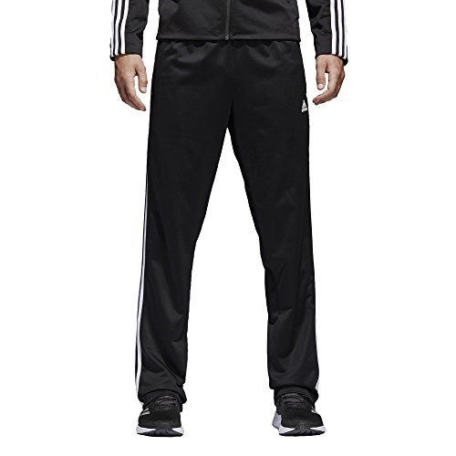 adidas Mens Athletics Essential Tricot 3-Stripe Pants, Black/White, Medium