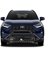 Black Horse Stainless Steel Bull Bar Skid Plate CBB-TOB4802SP Compatible with 2019-2021 Toyota RAV4 Grille Guard Bumper Protector Push Protect Front Bumper