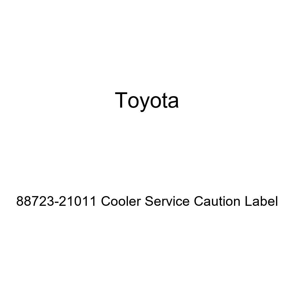 TOYOTA 88723-21011 Cooler Service Caution Label