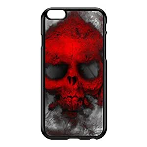 Red Skull Ghost Black Hard Plastic Case for iPhone 6 Plus by Fernando Garza + FREE Crystal Clear Screen Protector