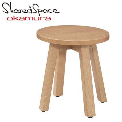 オカムラ シェアードスペース サークルローテーブル500 8SHC5L-WE28 幅φ50×高さ45cm B01M8HFFE8