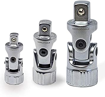 Universal Joint Quick Release Extension Set Socket Ratchet Adapter Tool 3 Piece