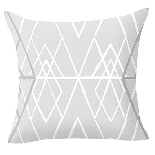AmyDong Clearance Square Pillows Decor Pillow Case Sofa Waist Throw Cover Cotton Polyester Pillowcase Knitted Pillow slip 18