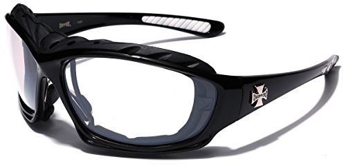 - Oversized Choppers Men's Sport Padded Motorcycle Bikers Sunglasses BLACK CLEAR
