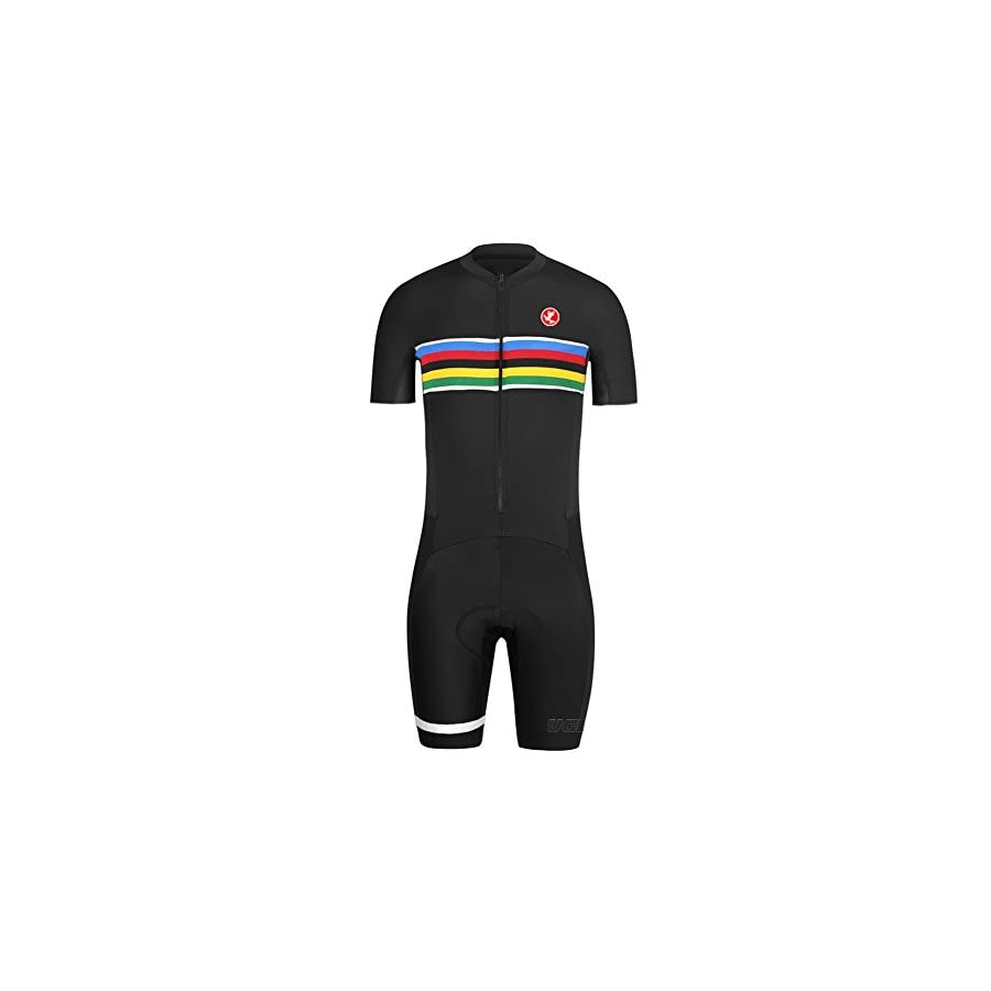 Uglyfrog 2017 New Men's Breathable Summer Skinsuit Short Sleeve Cycling Kit With Gel Pad Outdoor Sports Wear Triathon Clothing CCJ08