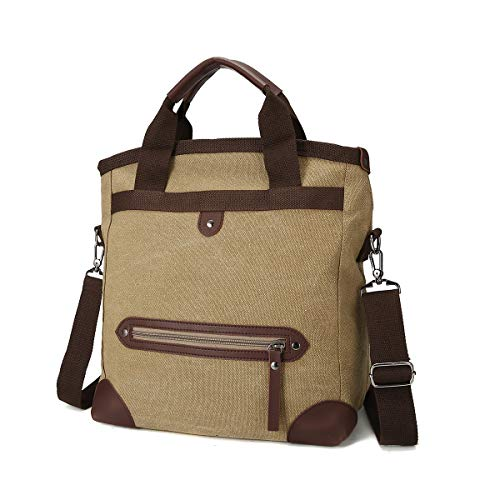 for Fashion Bag JOSEKO Multifunctional Holiday Khaki Shoulder Shopping Beach Khaki Bag Tote Bag Men Bag Travel Canvas Bag Women q86AwR