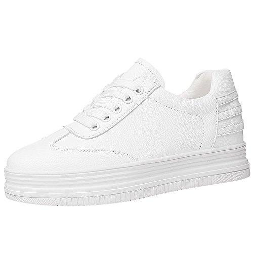 SFSYDDY-Primavera Placa De Zapatos Mujeres Salvaje Cuero Fondo Plano Fondo Grueso Estudiantes Calzado Casual Frenillo Treinta Y Siete Blanco Thirty-seven|white