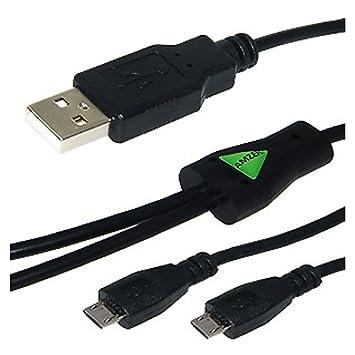 Amzer - Cable Cargador (USB a Doble Micro USB): Amazon.es ...