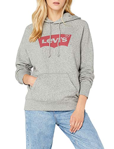 Levi's Grigio Smokestack sportswear Hoodie 3 Felpa Batwing Htr Donna Hoodie qIrSwI
