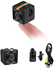 ICQUANZX Spy Camera, Verborgen Camera Mini Camera HD 1080P / 720P Spy Cam Draadloze Kleine Draagbare Nachtzicht Bewegingsdetectie voor Thuis, Auto, Drone