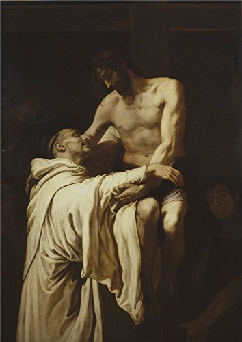 'Ribalta Francisco Christ Embracing Saint Bernard Ca. 1626 ' Oil Painting, 12 X 17 Inch / 30 X 43 Cm ,printed On High Quality Polyster Canvas ,this High Definition Art Decorative Canvas Prints Is Perfectly Suitalbe For Kids Room Gallery Art And Home Decoration And